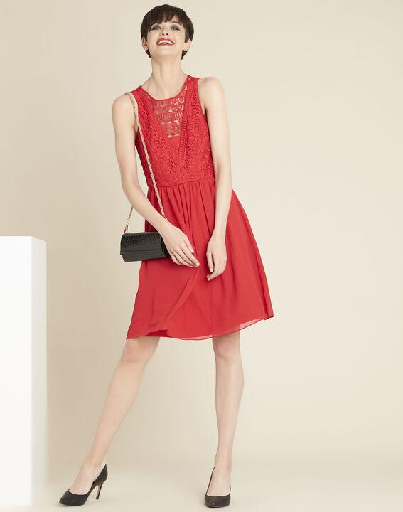 Robe rouge encolure dentelle Ibiza (3) - 1-2-3