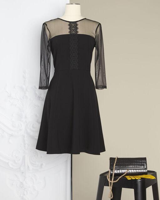 Robe noire empiècements tulle et dentelle Nadia - EXCLU WEB (2) - 1-2-3