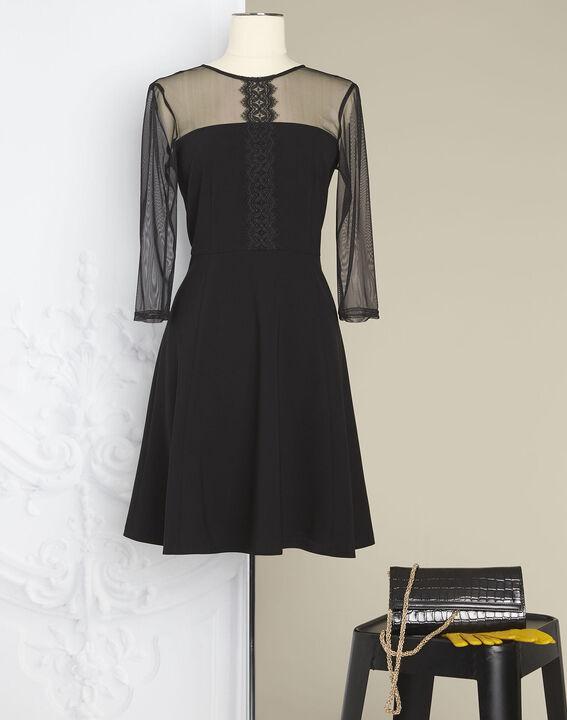 Robe noire empiècements tulle et dentelle Nadia - EXCLU WEB (3) - 1-2-3