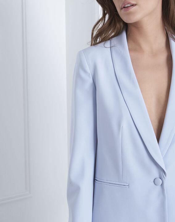 Veste bleu clair col chale Stella (3) - Maison 123