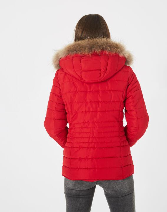 Doudoune rouge courte à capuche Rosie (4) - 1-2-3