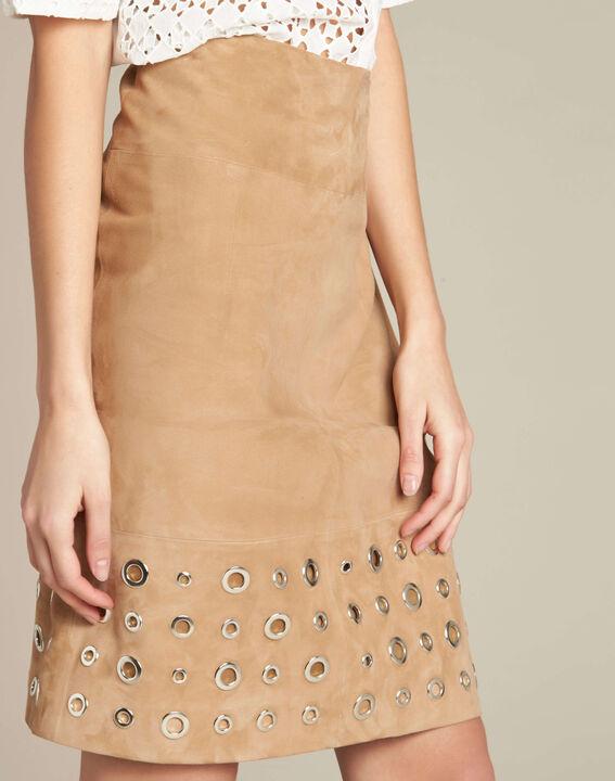Lilou beige suede skirt PhotoZ | 1-2-3