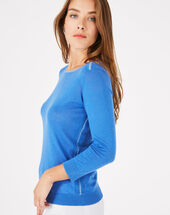 Pétillant royal blue sweater with metallic threading royal blue.