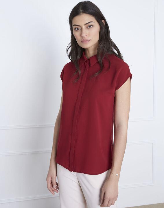 Rotes gerade geschnittenes Top Valerie (1) - Maison 123