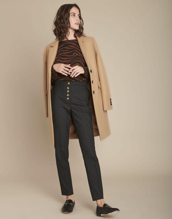 Pantalon cigarette noir Elix PhotoZ   1-2-3
