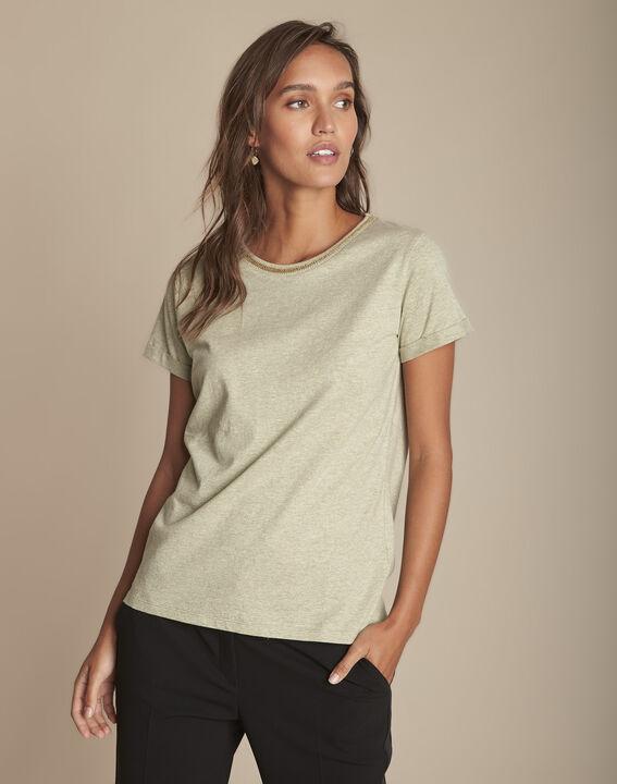 Tee-shirt chaux encolure lurex Clara PhotoZ   1-2-3