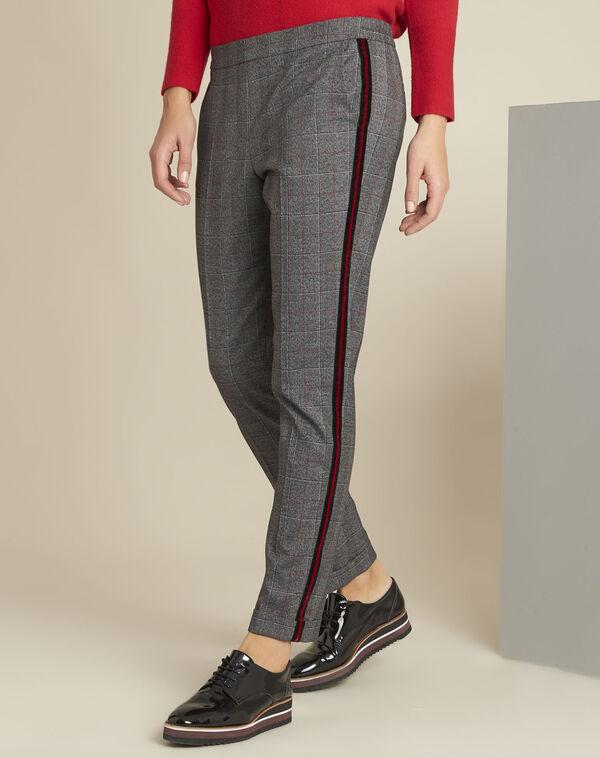 Pantalon gris à carreaux Volt (1) - 1-2-3