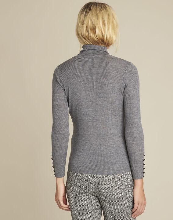 Basile grey fine-knit turtleneck pullover (4) - 1-2-3