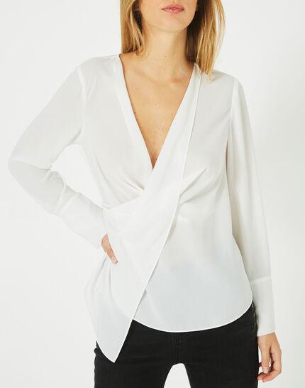 Danse draped, off-white blouse (2) - 1-2-3