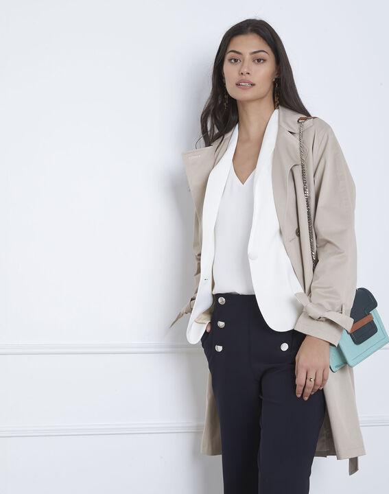 Weiße Jacke mit Schal-Kragen Sabrina (5) - Maison 123