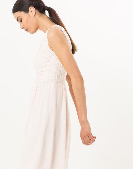 Puderfarbenes schwungvolles Kleid Freedom (3) - 1-2-3