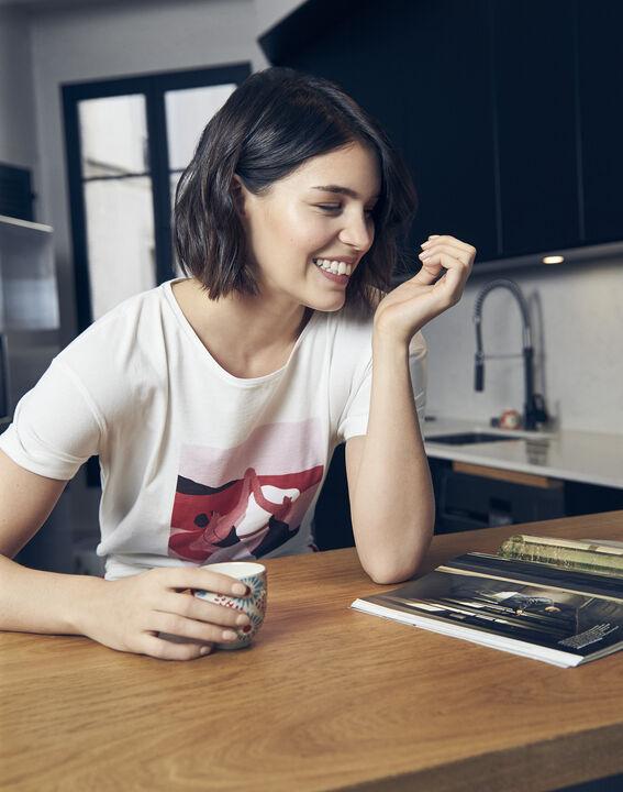 Tee-shirt écru Mujer Journée des Droits de la Femme (3) - Maison 123