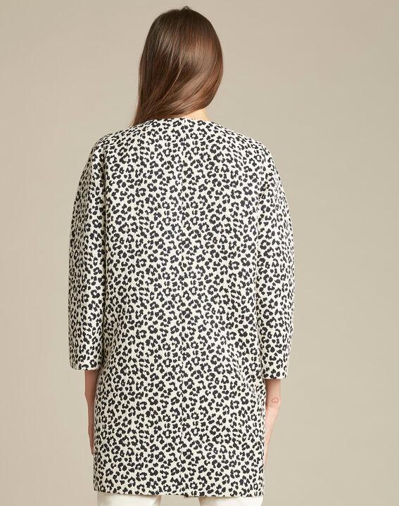 Veste jacquard imprimé léopard Kelly (4) - 1-2-3