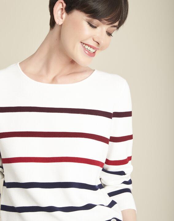 Berlingot ecru striped jumper (2) - 1-2-3