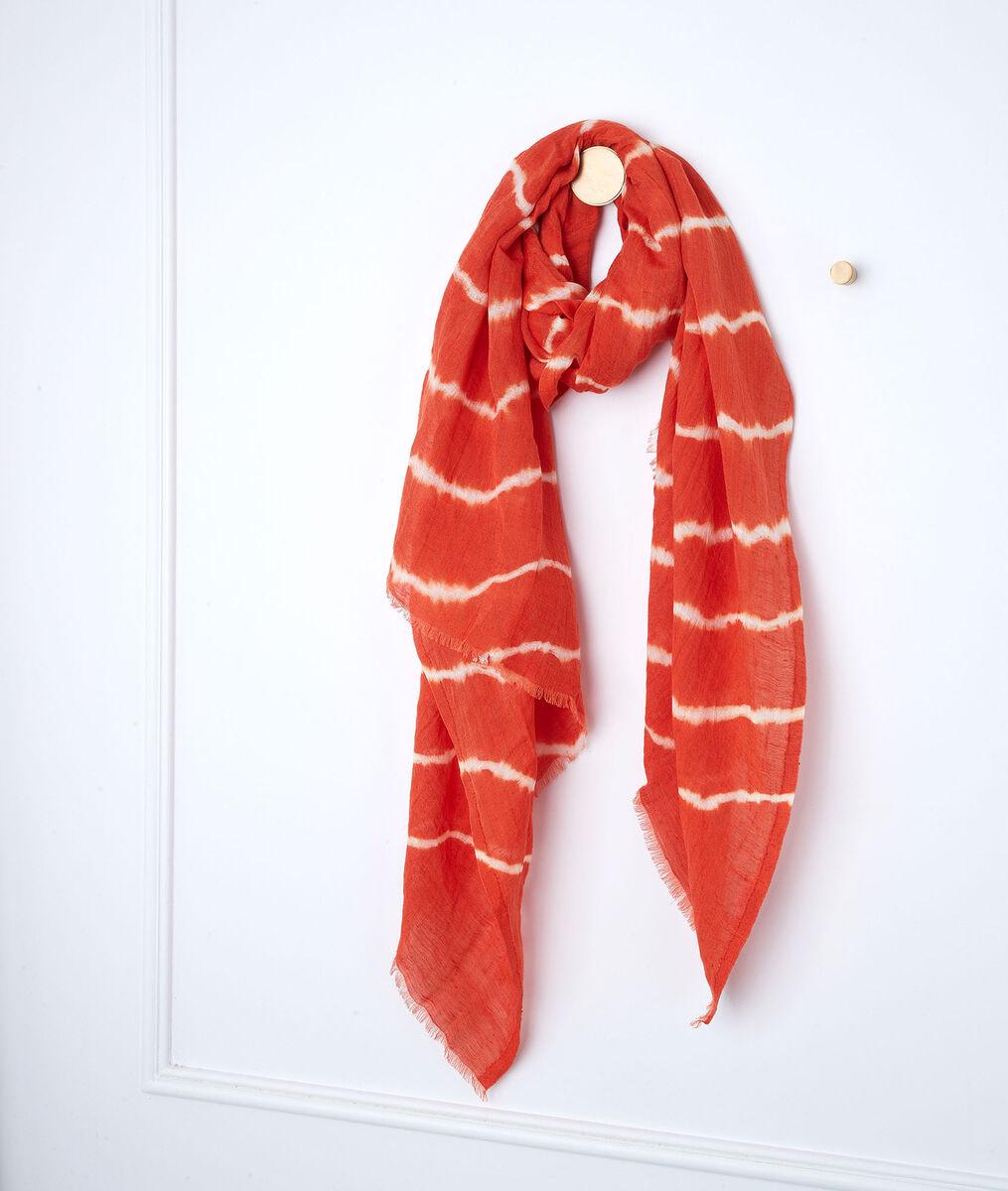 Foulard tie and dye corail Blake  PhotoZ | 1-2-3