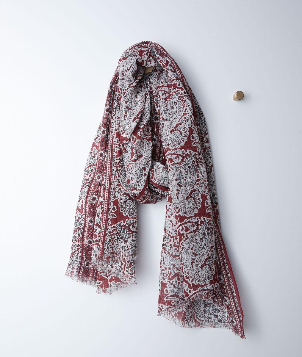 Foulard imprimé cachemire rouge bianca - 123 - Modalova