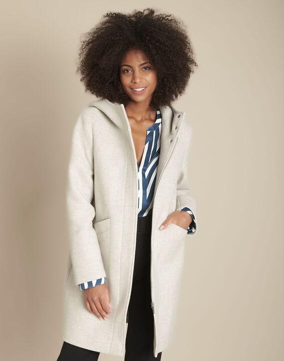 Manteau en laine gris chiné Terrence PhotoZ | 1-2-3