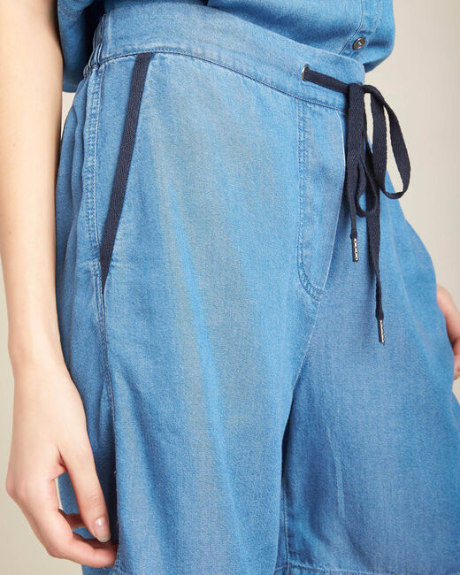 Fließende Jeansshorts mit Kordel Jasmin (1) - 1-2-3