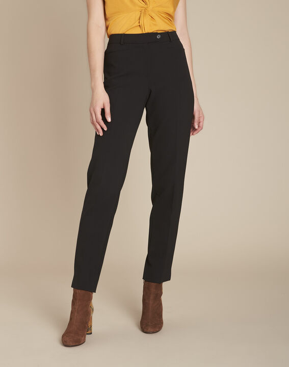 Valero black fitted trousers with pleats PhotoZ | 1-2-3