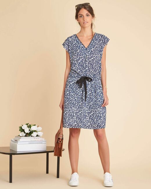Princesse navy blue printed dress (1) - 1-2-3