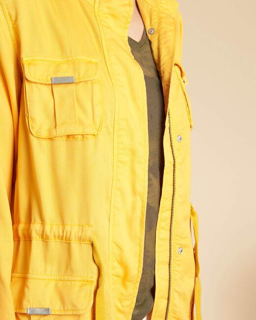 Veste jaune soleil fluide à poches Casa (2) - 1-2-3