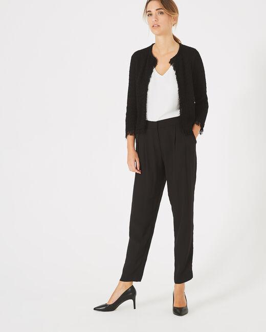 Veste courte noire tressée Patricia (2) - 1-2-3