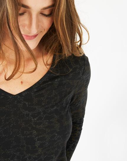 Tee-shirt noir imprimé Beast (4) - 1-2-3