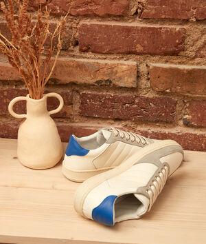 Sneakers van twee soorten leder Vicky