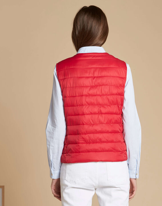 Yvana fine red sleeveless quilted jacket (4) - 1-2-3