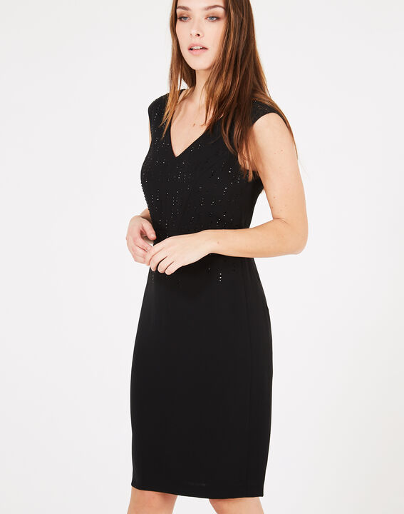 Gamma black dress with diamanté detailing (2) - 1-2-3