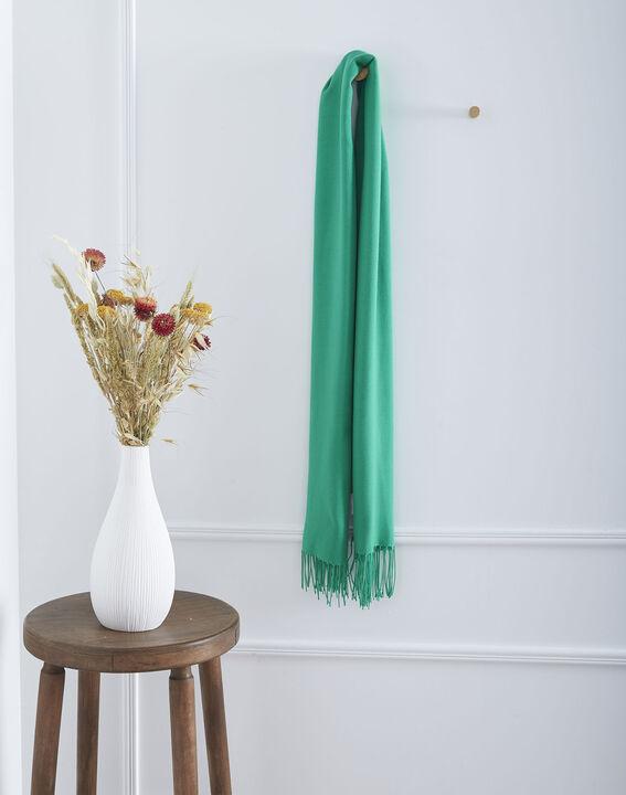 Foulard vert à franges Fossette (1) - Maison 123