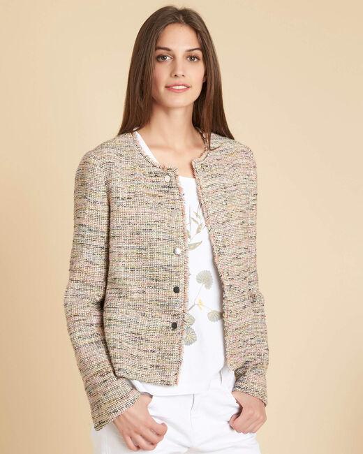 Crea short nude buttoned jacket (2) - 1-2-3