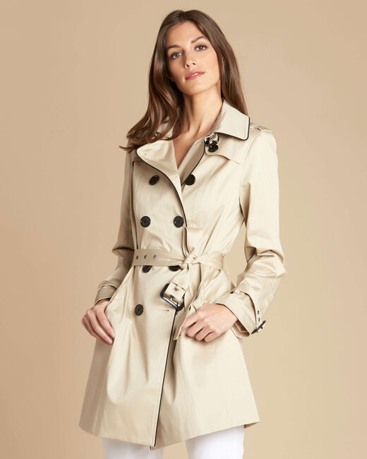 Kate beige braided trench coat (2) - 1-2-3