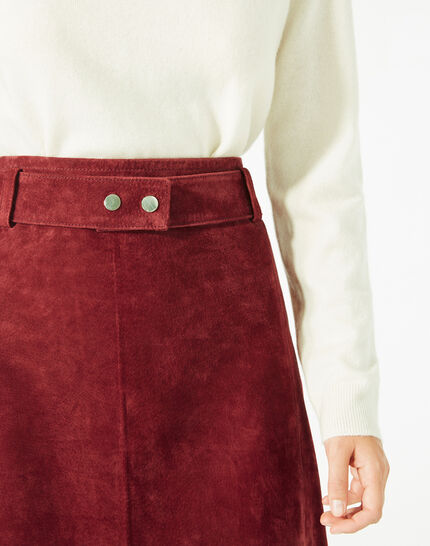 Diapo burgundy leather skirt (4) - 1-2-3