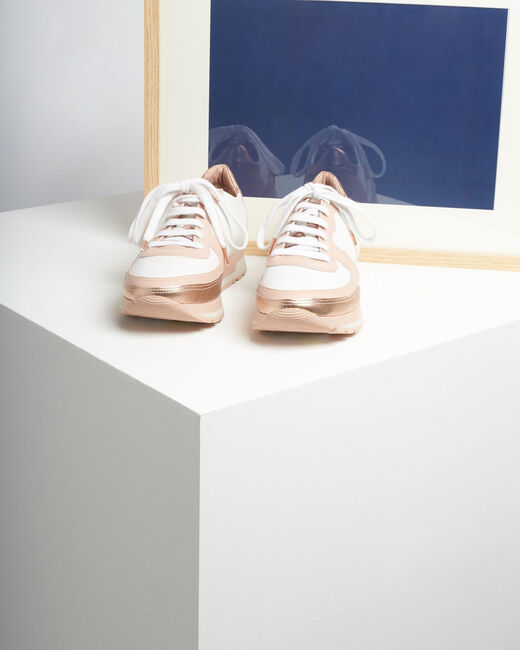 King rose gold and white leather trainers (1) - 1-2-3