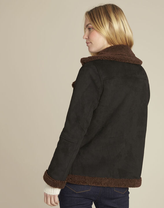 Black faux shearling jacket (4) - 1-2-3