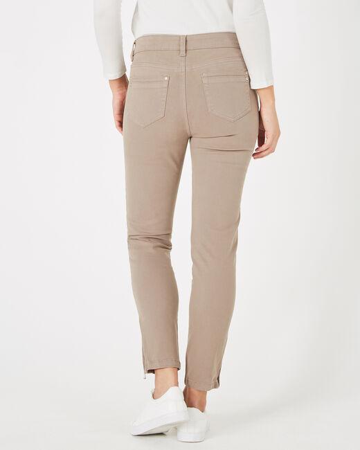 Pantalon 7/8ème taupe satin Pia (1) - 1-2-3