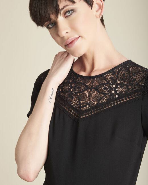 Daren black playsuit with lace neckline (1) - 1-2-3
