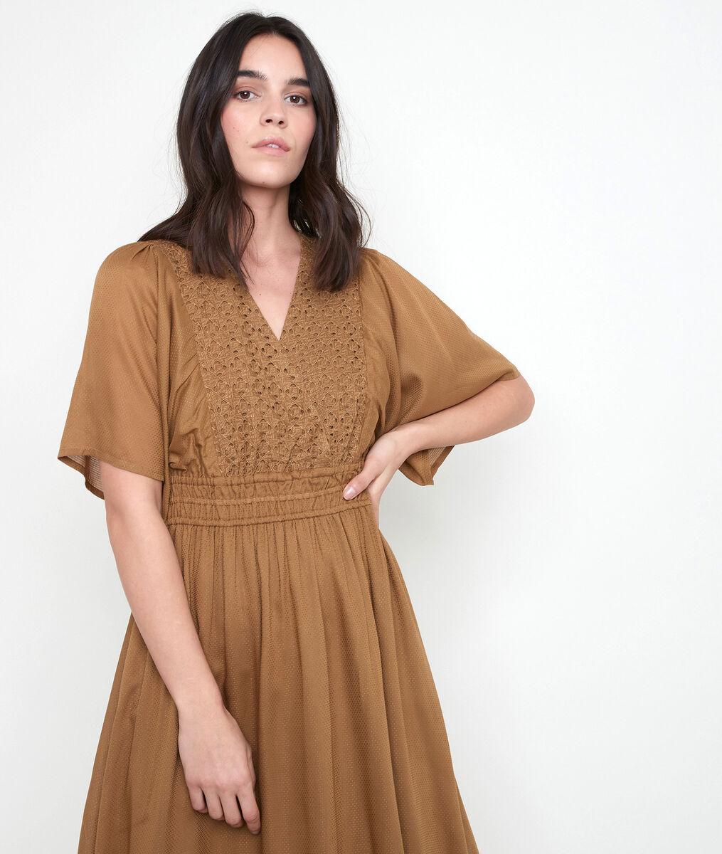 Robe bronze brodée Lauretta PhotoZ | 1-2-3