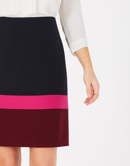 Trico navy blue straight-cut tailored skirt (2) - 1-2-3