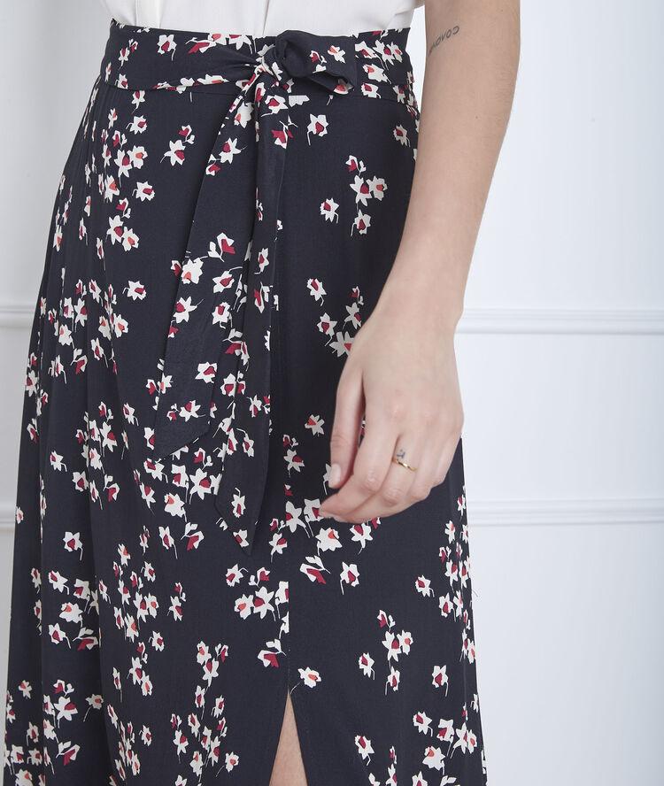 Spiksplinternieuw Lange zwarte rok met print en split Sweety - Maison Cent Vingt-Trois UK-37