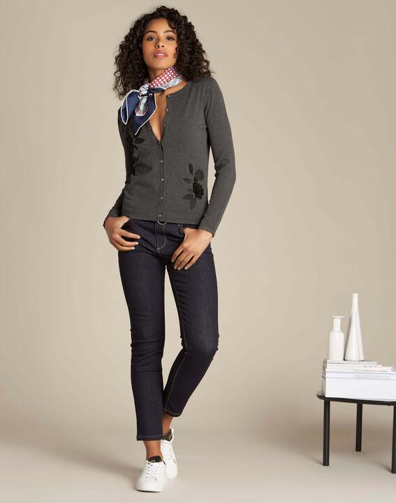 Vendôme navy blue slim-cut jeans (2) - 1-2-3