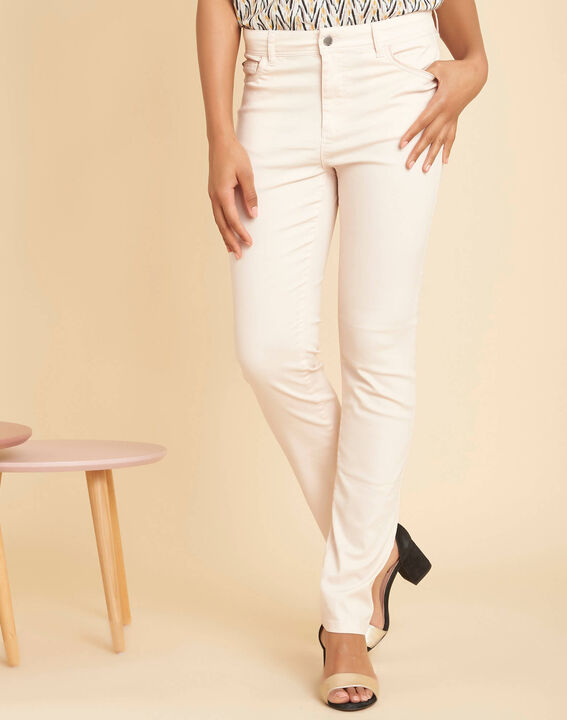Valley regular fit pale pink slim-cut coated jeans (3) - 1-2-3