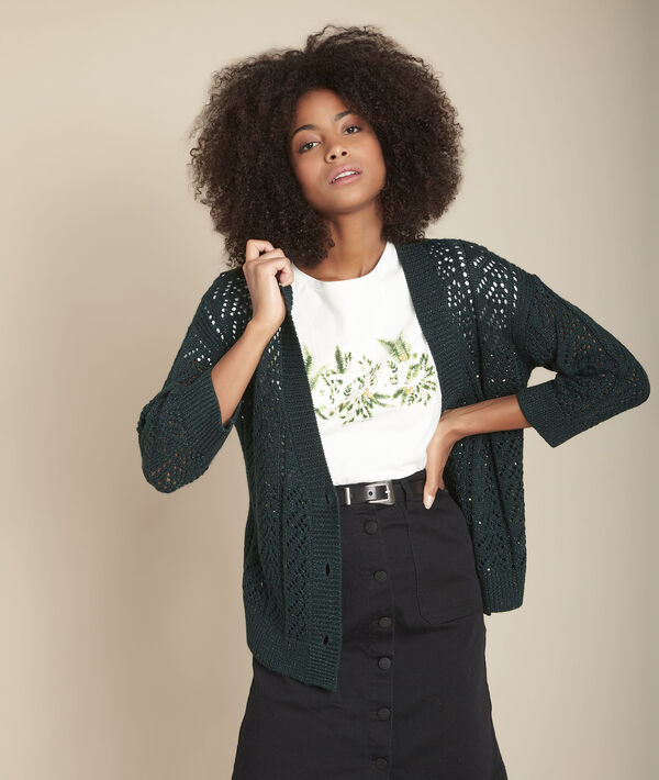 Gilet en maille lurex vert Flashdance PhotoZ | 1-2-3