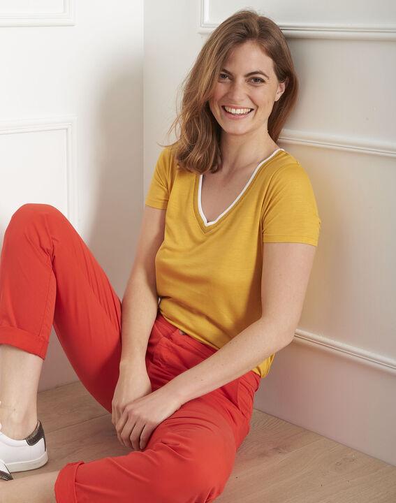 Tee-shirt jaune bord côte Passo (1) - Maison 123