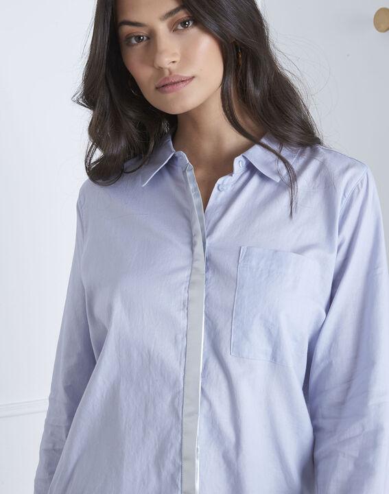Blaues Hemd mit silberfarbenen Details Valza (3) - Maison 123