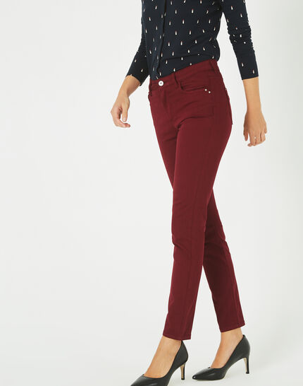 Pantalon bordeaux 7/8 Oliver 2 (2) - 1-2-3