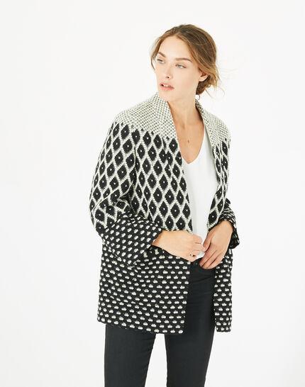 Minotaure black and white jacquard jacket (2) - 1-2-3