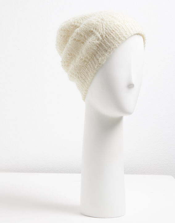 Ursula ecru hat with decorative stitches PhotoZ | 1-2-3
