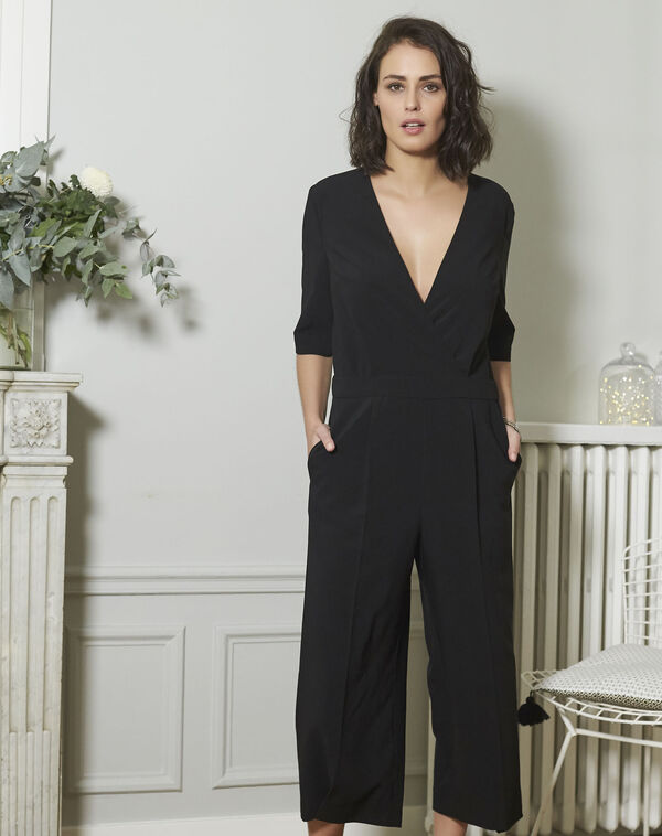 Nouchka Fitted Black Jumpsuit (1) - 1-2-3